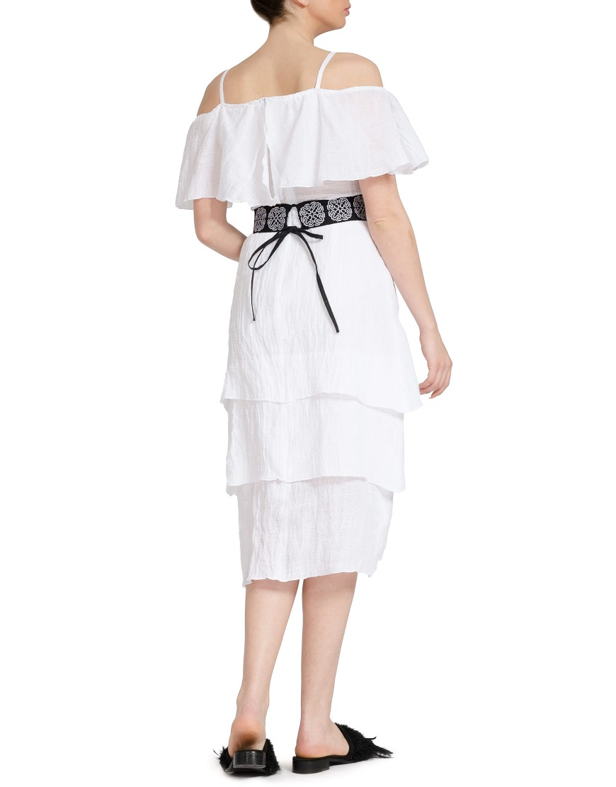 White Dress with Black Belt