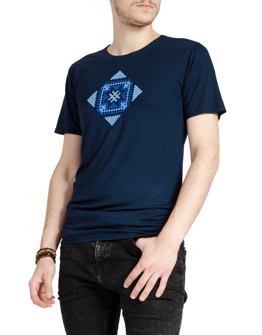 Blossom Eye Tshirt in Navy Blue