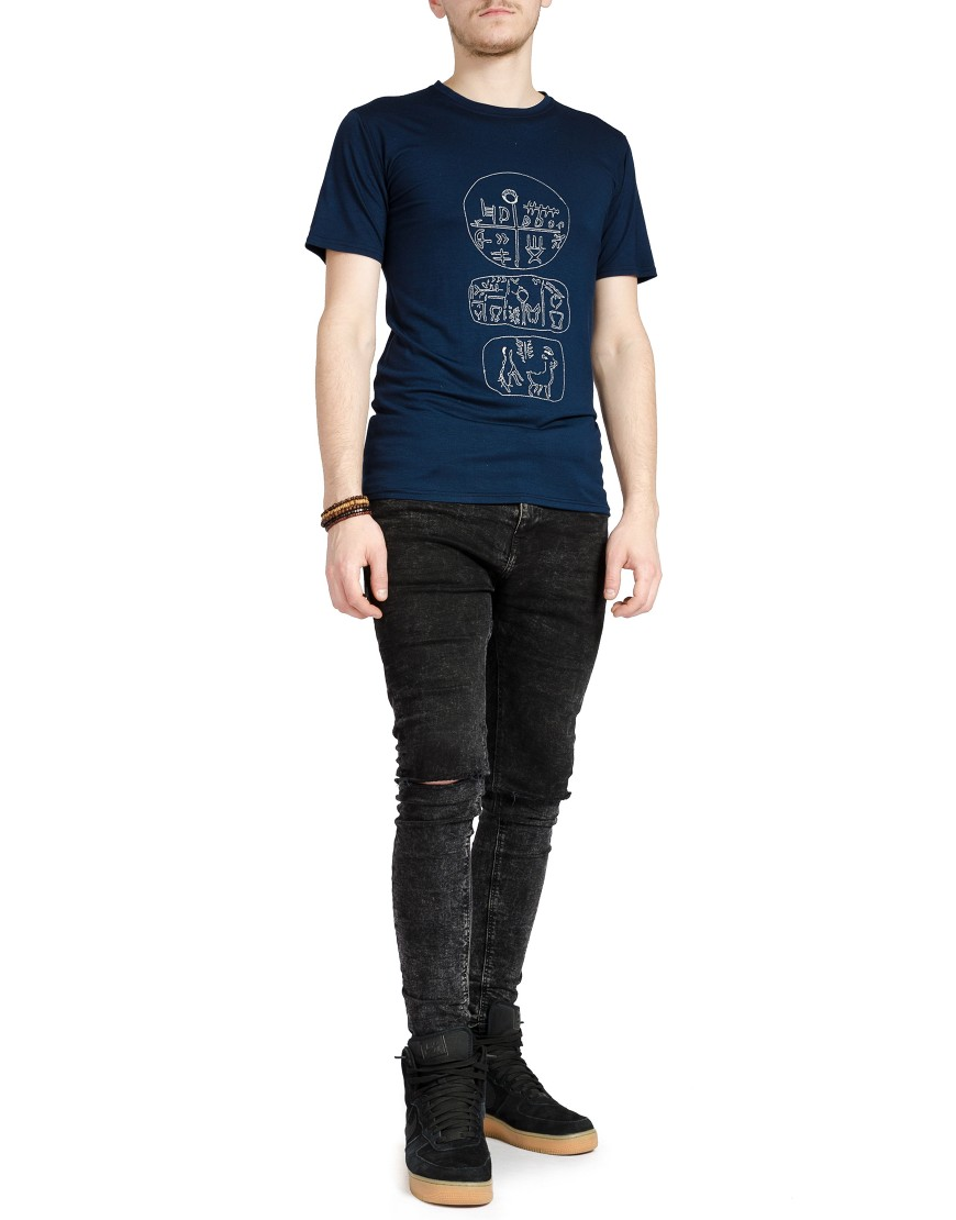 Tartaria Tshirt in Navy Blue