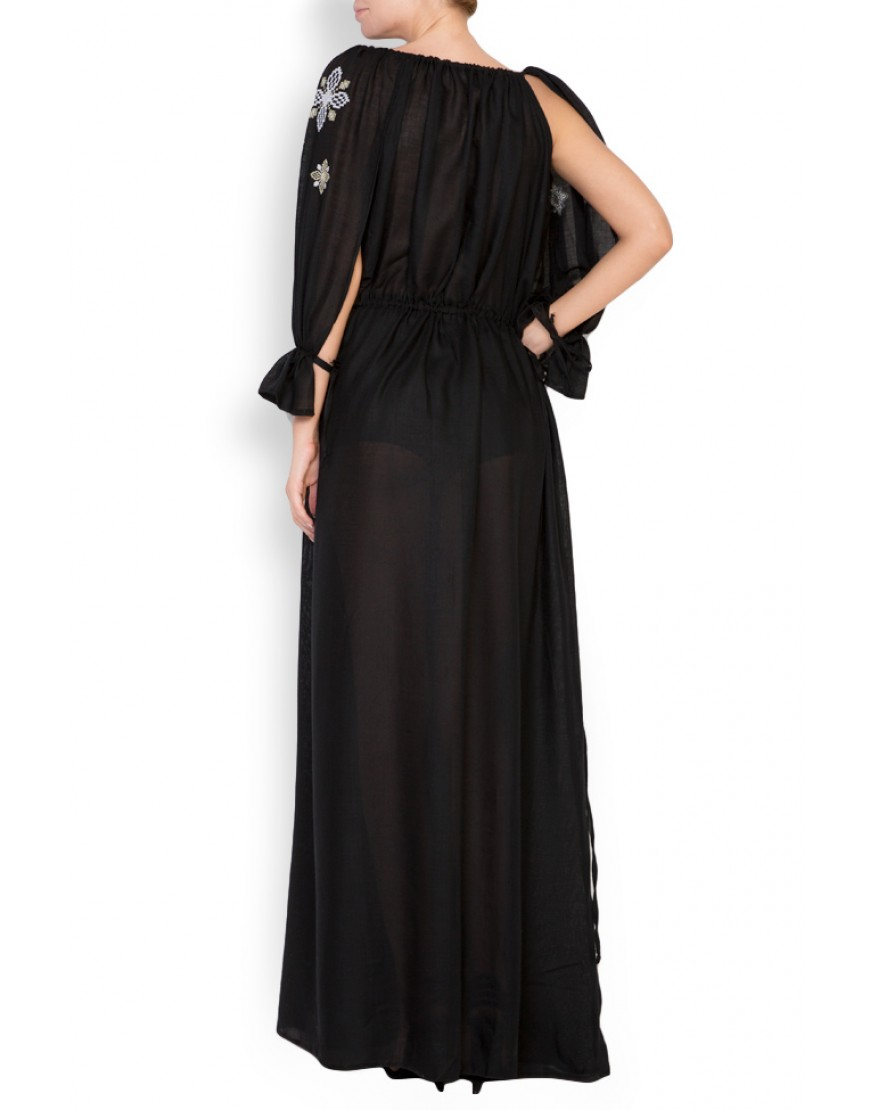 Clematis Black Long Dress