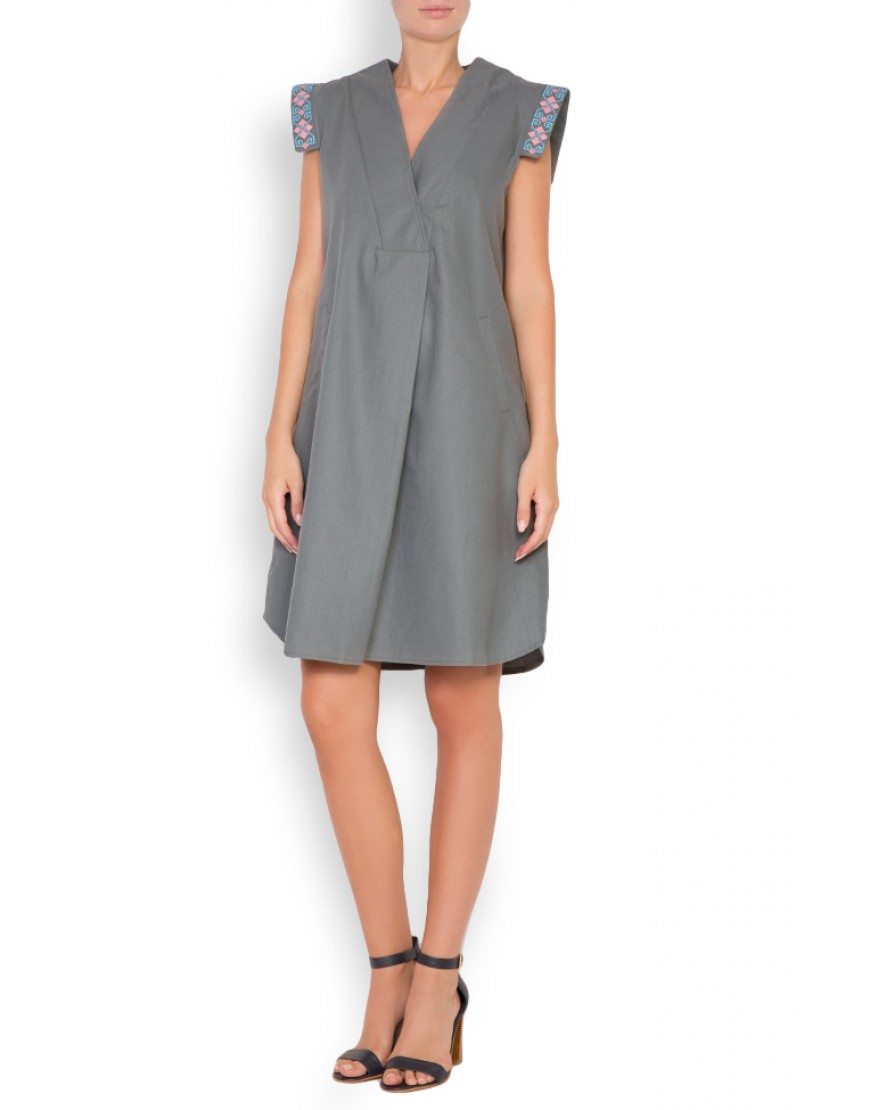Clepsydra Grey Short Dress