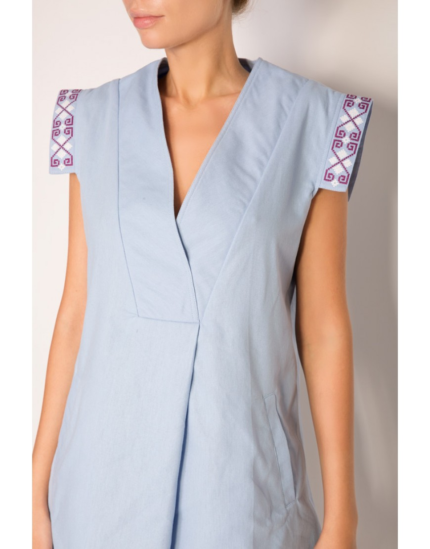 Clepsydra Light Blue Short Dress