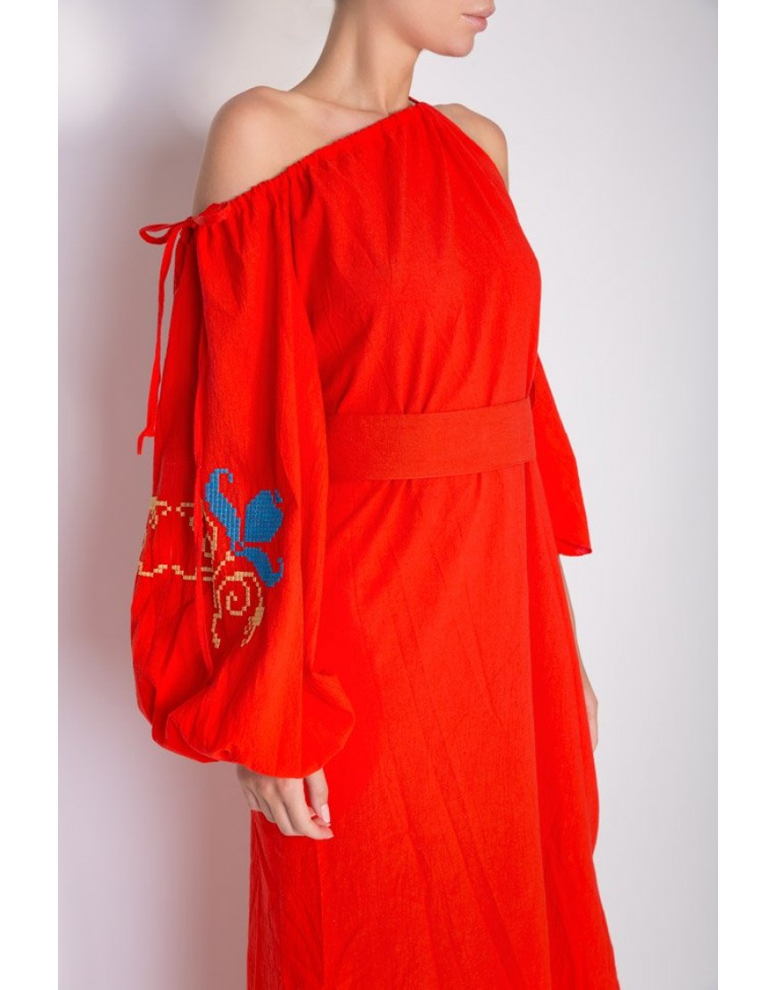 Tulip Red Long Dress