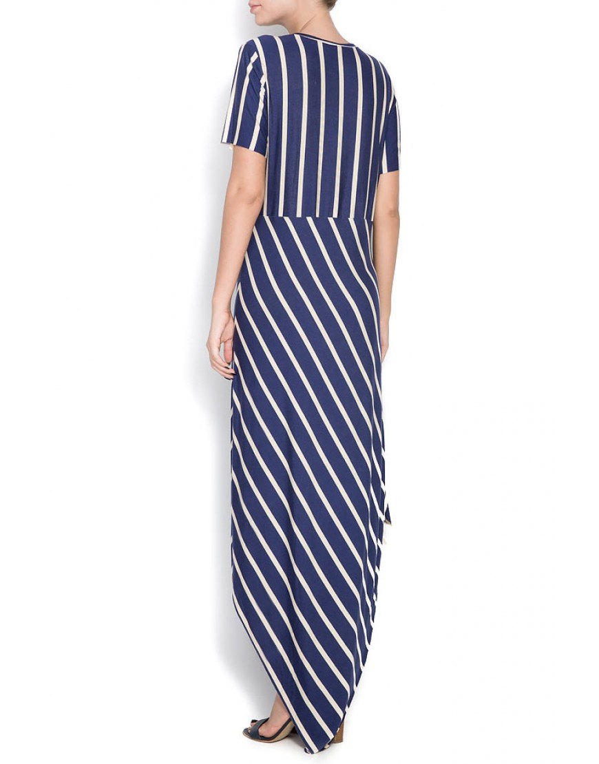 Tulip Asymmetric Striped Dress