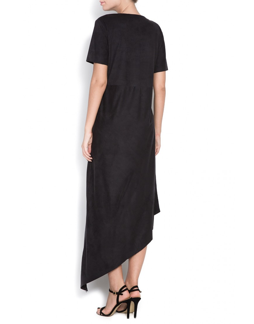 Tulip Asymmetric Black Dress