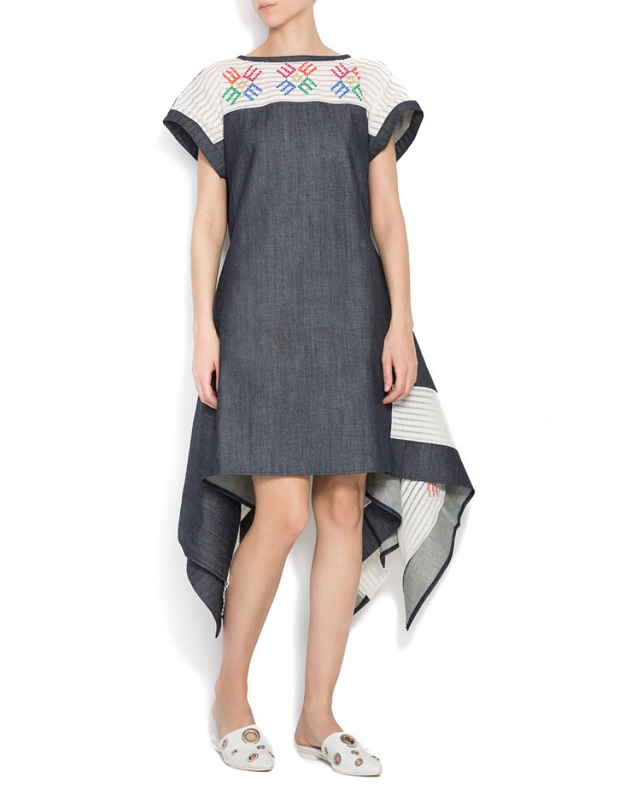 Logolace Denim Dress