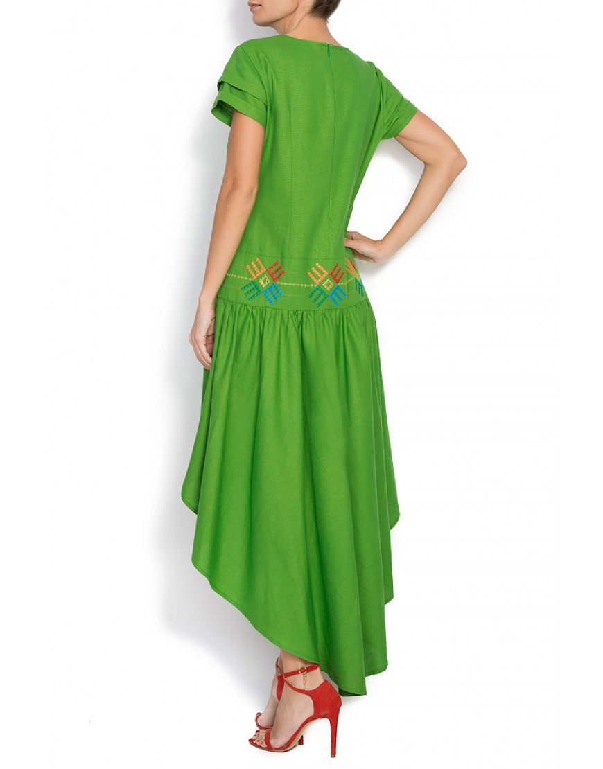 Logo Dress in Green